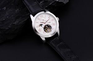 【JOHNNYROGER Roi 】フライングトゥ-ルビヨン メンズ パワーリザーブ 手巻き腕時計