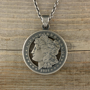 【受注生産】MORGAN DOLLAR LIBERTY CUTCOIN PENDANT 1$【ONE DOLLAR】