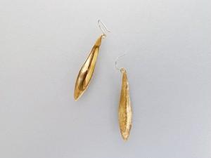 オリーブの葉 ピアス(ゴールド)