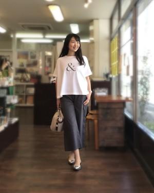 【&】大人をきれいに見せるTシャツ Aライン 綿素材