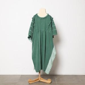 folk made fairy lace dress (green) M・Lサイズ F21SS-023