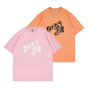 【GRAF】ロゴ変形プリントTシャツ