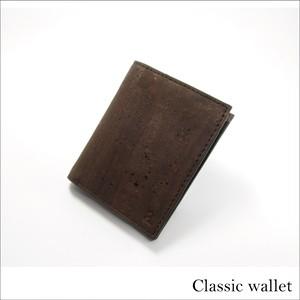 VEGAN SLIM ID WALLET  BROWN / 二つ折り財布 ブラウン コルク製