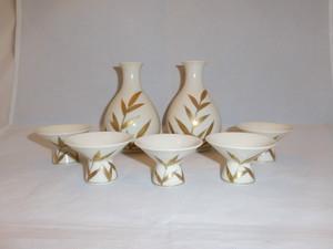 京焼酒器揃え(染雪 作) Kyoto porcelain sake set(someyuki signature)