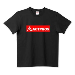 【MEN'S】ACTPROS ボックスロゴ 5.6ハイクオリティーTシャツ(United Athle) ブラック【2colors】