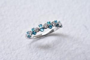 パライバトルマリン&ダイヤモンド リング / PT900
