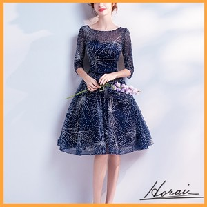 ウェディングドレス 半袖 膝丈 レース 装飾  パーティードレス パーティー ドレス 結婚式 二次会 20代 30代 40代 【お取り寄せ】
