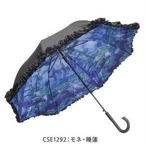 傘 晴雨兼用 UVカット  ( モネ 睡蓮 傘)