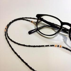 2wayメガネチェーン ネックレス/メガネコード/ビーズ/個性的/デイリー