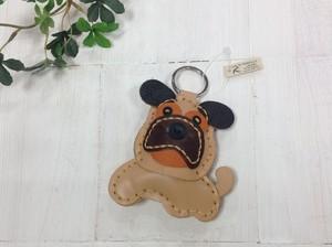 レザーキーホルダー  Pug