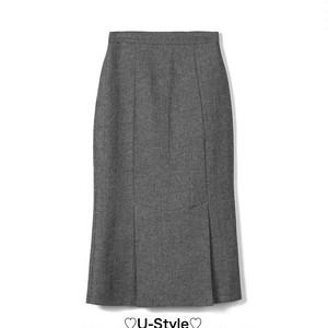 【即日発送】グレーロングスカート