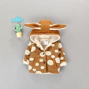 【ベビー服】安くてかわいい子供服フード付き裏起毛ジャケット·アウター23542518