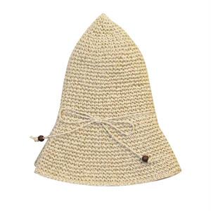 ささ和紙 手編み帽子(56~58cm)