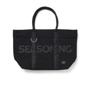SEASONING×PORTER TOTE BAG ONLINE LIMITED MODEL- BLACK×BLACK