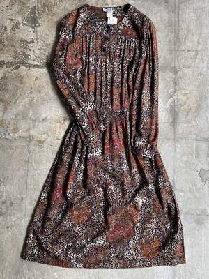 vintage leopard & ethnic dress