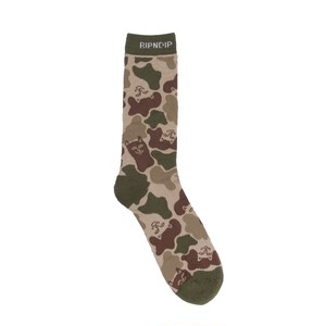 RIPNDIP - Nerm Camo Socks (Army Green)