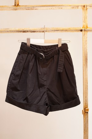 Acne Studios / COTTON TWILL SHORTS (BLACK)