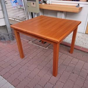 ジャパンヴィンテージ チーク材伸長式ダイニングテーブル  北欧スタイル