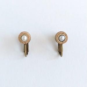 オーボエリードとパールのイヤリング  Oboe reed pearl earrings