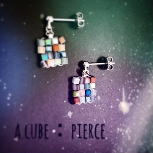 a cube:pierce , earring