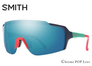 SMITH (スミス) サングラス FLYWHEEL matte deep ink ChromaPop Sun Blue Mirror フライホイール 1枚レンズ シールド型 サングラス メンズ 男性用