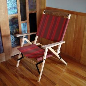 "KachaKacha Mid Chair ""Red Currant Stripe""(カチャカチャチェア-レッドカラント ストライプ)"