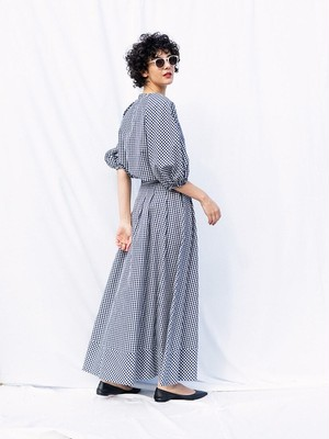 vichy long skirt
