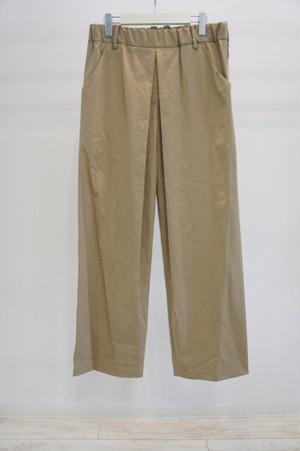 nylon oversize tuck pants -BEIGE- / THEE