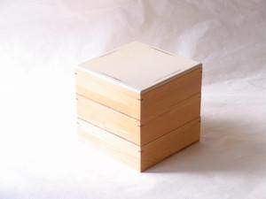 紀州塗 木製 6寸三段重 ナチュラル