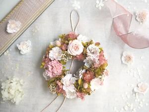 受注制作 Petite Couronne<Sakura>*桜色・幸せ舞い込むリース ミニ・桜・プリザーブドフラワー 花