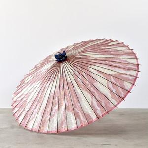 傘日和 蛇の目傘 波模様×桃色