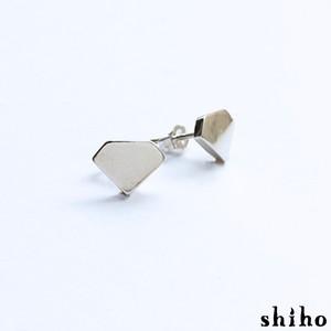 宝石のシルエットをかたどったピアス【silhouette pierce(sv)<石なし>】