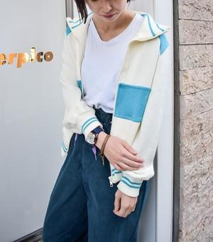 acrylic knit トラックジャケット