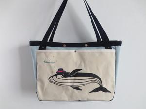 トートbag【クジラ】ブルー