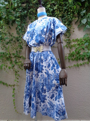 Flower pattern dolman sleeve  dress 花柄 ドルマンスリーブ  ワンピース