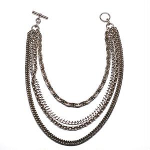 Hermès Collector Vintage Silver Four Chaine Necklace