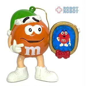 M&M's オレンジ サンタハット 写真フレーム クリスマスオーナメント