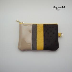 コインケース、名刺ケース付き(黄色)
