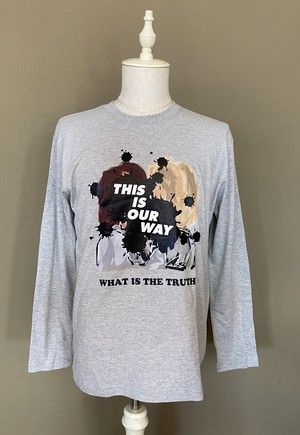 THIS IS OUR WAY LONG TEE K&C 杢グレー L