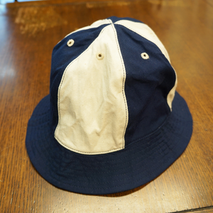 CREW HAT (NAVY x NATURAL)