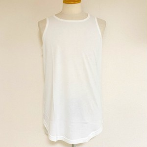 Long Length Tank Top(round model) White