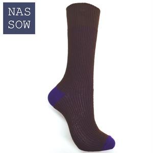 NASSOW 2017FW 2トーン リブ ソックス(1720204)