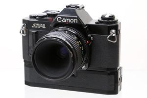 【中古】Canon(キヤノン) AV-1 + nFD 50mm F3.5マクロ + パワーワインダーA