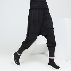 2745サルエルパンツ ストリート系 レディース メンズ ロングパンツ カジュアルパンツ 個性 ヒップホップダンス衣装 ダンスパンツ 舞台衣装 九分丈