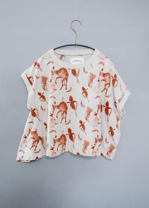 【21SS】ミチリコ(michirico) Flora and fauna asymmetry T ベージュ【S・M】Tシャツ