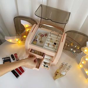 handle accessory box 3colors / アクセサリー ジュエリー ボックス ケース 持ち手 蓋つき 韓国雑貨