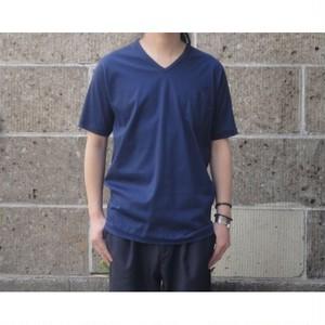 gicipi (ジチピ) V NECK POCKET T-Shirts ネイビー