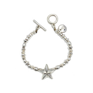 CONSIGLIERE/コンシリエーレ Lucky star silver beads bracelet-B