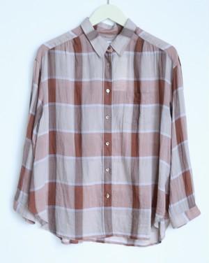 "hatsutoki ""ボイルチェックシャツ"""