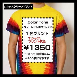 Colortone カラートーン ヴィーレインボウTシャツ(品番TD1000_RM)